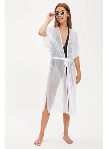 DeFacto Plaj Elbisesi Beyaz